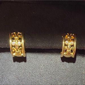 Faberge Yellow Gold Diamond Women Earrings